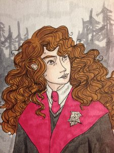 An illustration of Hermione Grager as imagined by reddit user