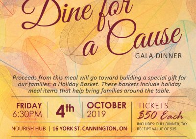 Dine for a Cause Invitation