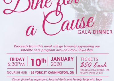 Dine for a Cause Gala Invitation