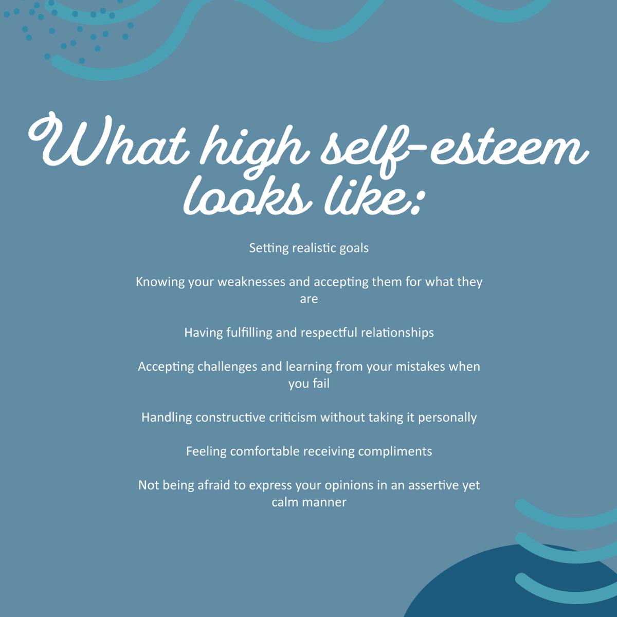 What high self esteem looks like