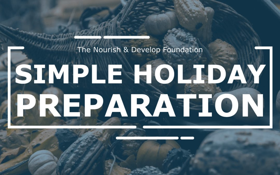 simple holiday preparation