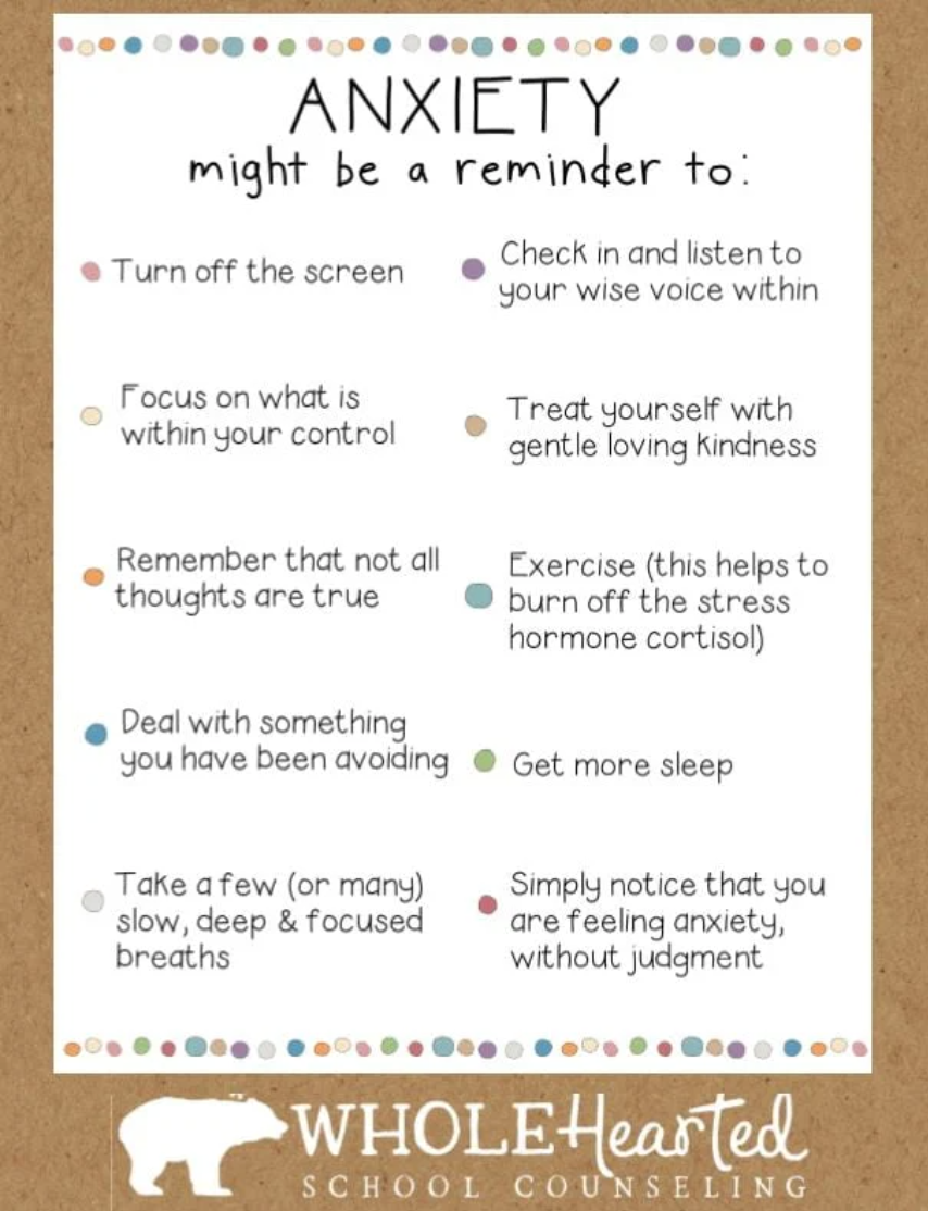 Anxiety reminders